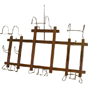 Hat Rack with 10 Victorian Hooks