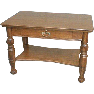 19th Century Oak Library Table or Desk