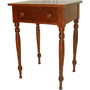 19th Century Cherry Stand Table with Drawer