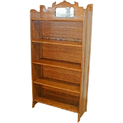 Oak Fold Up Bookcase by Larkin Furniture Company