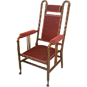 Victorian Chair by Hunzinger with Red Upholstery