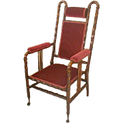 19th Century Side Chair by Hunzinger with Red Upholstery