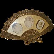 Brass Picture Frame in Large Fan Shape