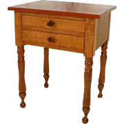 Period New England Tiger Maple Stand