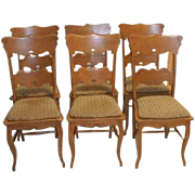 20th Century American Oak Dining Chairs Set of 6