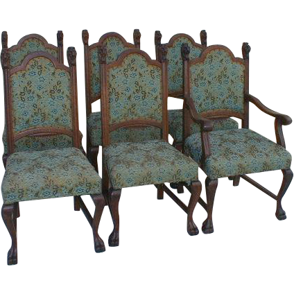 R J Horner Lion Head Dining Chairs