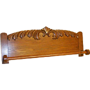 Oak Towel Bar or Quilt Rack