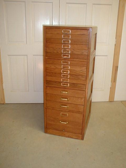 File Us Navy 061227 D 0000x 001 President Gerald R Ford: Oak File Cabinet With 16 Drawers From US Post Office From