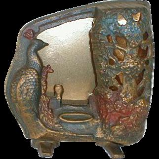 Art Deco Peacock Night Lamp Cast Iron made 1939