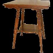 Victorian Oak Lamp Table