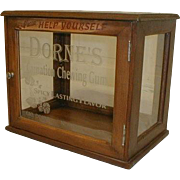 DORNE's Carnation Chewing Gum Display Cabinet
