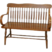 Arrowback Bench with Bentwood Arms