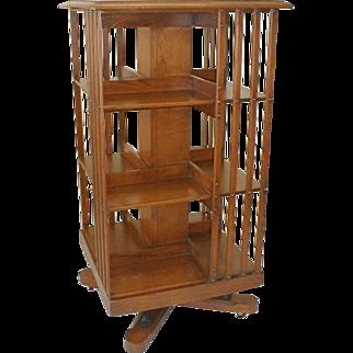 Danner Revolving Walnut Bookcase