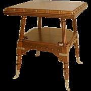 Oak Lamp Table by Merklen Brothers