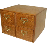 Four Drawer Oak File Cabinet