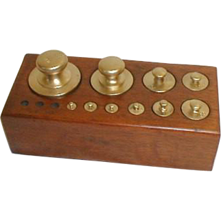 Medical Apothecary Scale Weight Set