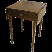 Mahogany 19th Century Drop Leaf Pembroke Lamp Table