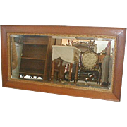 Oak Framed American Beveled Mirror 1905