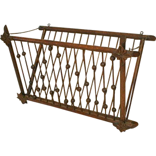 Oak Victorian Magazine Rack in Stick and Ball Style