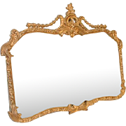 Victorian Mirror in Gilded Carved Frame