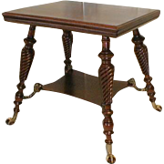 19th Century Cherry Parlor Table by Merklen Brothers