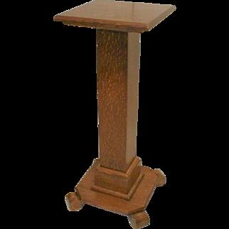 Oak Pedestal Plant Stand