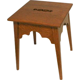 Arts and Crafts  Step Stool in Tiger Oak