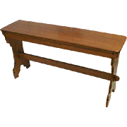 Arts and Crafts Oak Bench