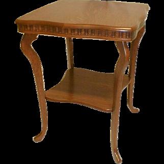 American Oak Lamp Table