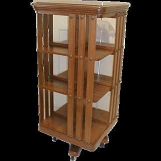 DANNER  Oak Revolving Bookcase