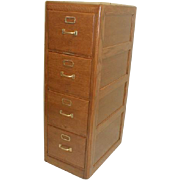 Oak 4 Drawer Standard File Cabinet