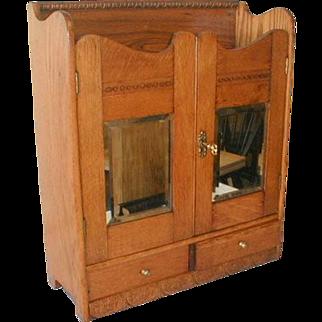 Victorian Eastlake Medicine Shaving Cabinet