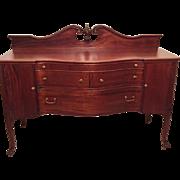 19th Century Mahogany Sideboard by Berkey and Gay