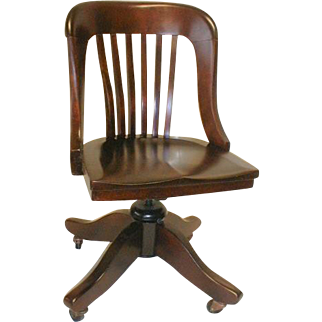 Mahogany Office Chair Made about 1910