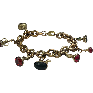 Wonderful charm bracelet with gorgeous gem set charms