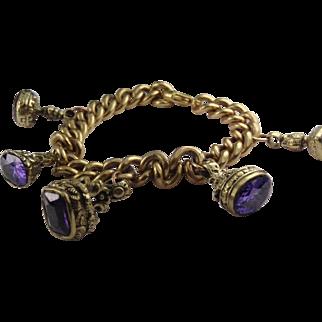 Stunning fob seal charm bracelet