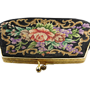 Attractive petite point tapestry antique purse