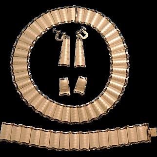 Vintage Einar Modahl Enamel Sterling Silver, Guilloche, Rare Complete Necklace Set.