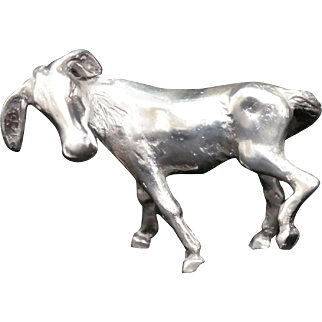 Sterling Silver Miniature Donkey made by S. Kirk and Son.