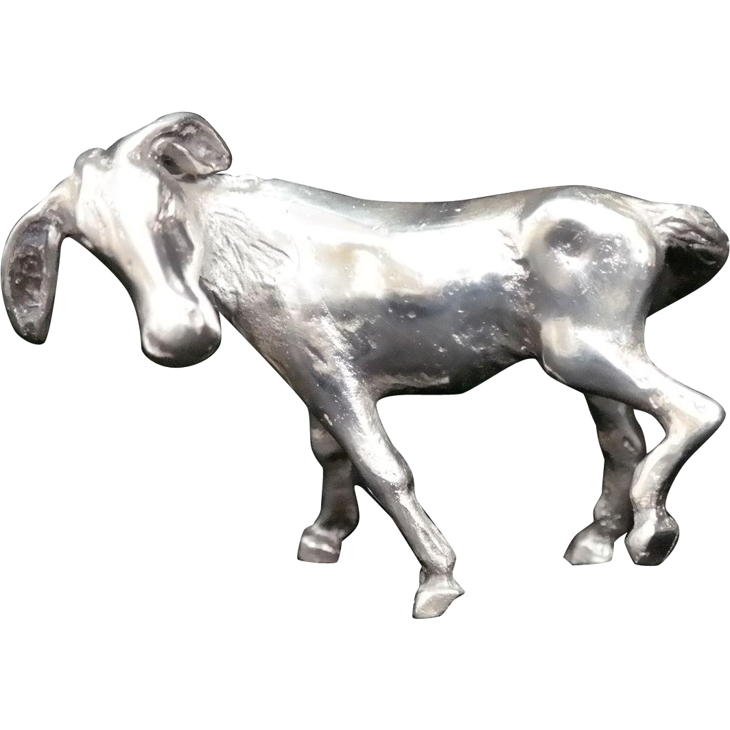 Sterling Silver Miniature Donkey Made By S Kirk And Son