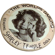 Original pin for Shirley Temple 1930's Composition doll