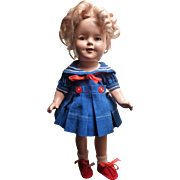 "13"" Shirley Temple in Sailor Dress tagged"