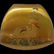 Elgin American Cornucopia Goldtone Makeup Compact