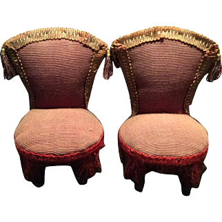 Pair Oversized Dollhouse Chairs