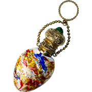 Venetian Murano Glass Miniature Perfume Bottle, Antique