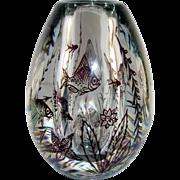 Orrefors Fish Graal Vase, Rare Purple Sea Creatures, Jellyfish, Star Fish, Shells, Edward Hald, 1949