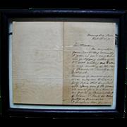 Jefferson Davis Letter Written by Wife Varina, 1875, Memphis, TN