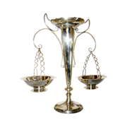 Chinese Export Silver Epergne with Baskets Wang Hing