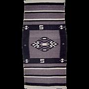 Navajo Rug Weaving, 44 x 20-1/2, Vintage