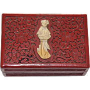 19th Century Chinese Red Lacquer Cinnabar Box